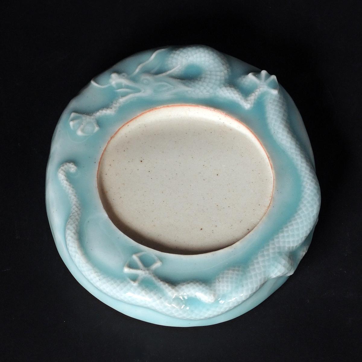 Dragon Inkstone, celadon glaze