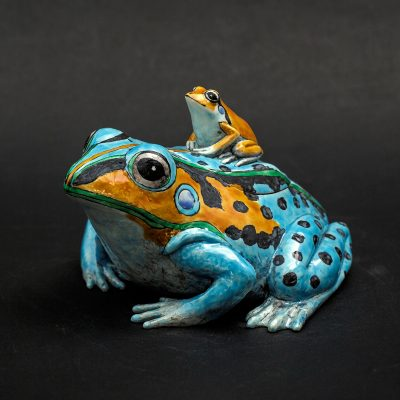 Sky Blue Frog by Kensuke Fujiyoshi