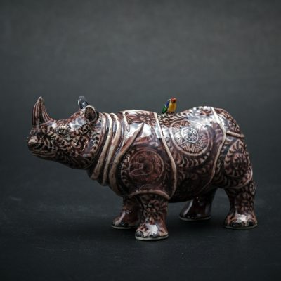 Small Purple Rhino by Kensuke Fujiyoshi