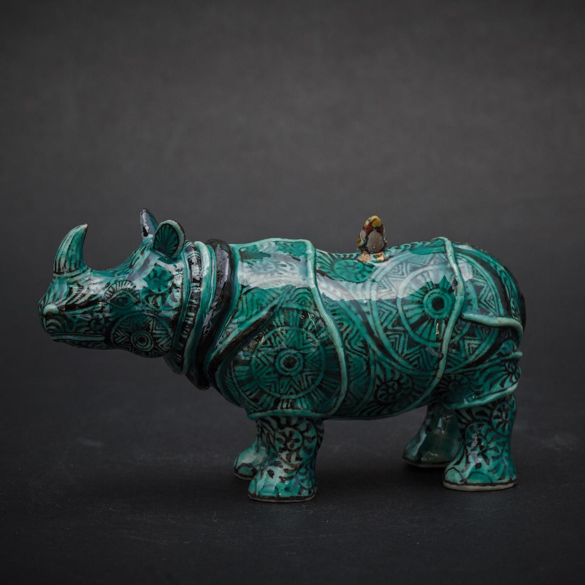 Small Green Rhino by Kensuke Fujiyoshi