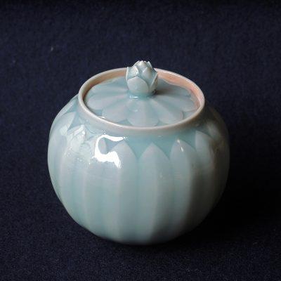lotus pot, celadon glaze