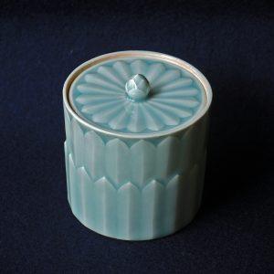 Lotus jar, celadon glaze